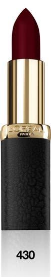 L'Oréal Color Riche Matte, de larga duración y con aceites esenciales.