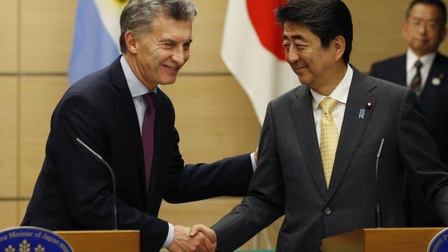 Es el segundo encuentro entre Macri y Shinzo Abe