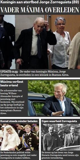 La portada de De Telegraaf, el diario de mayor circulación en Holanda, con cuatro notas sobre el tema