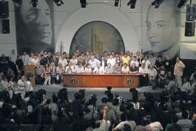 """Gerónimo """"Momo"""" Venegas, Rubén """"el Pollo"""" Sobrero, Pablo Micheli, Julio Piumato, Hugo Moyano y Rubén Cirielli, entre otros, el 20-N"""