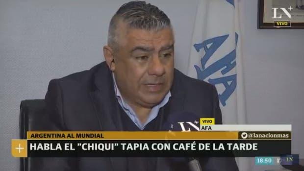 Chiqui Tapia en Café de la Tarde, en LN+