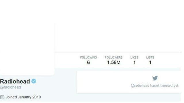 El Twitter de Radiohead, hoy