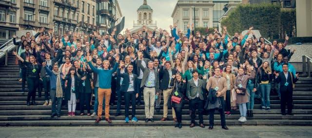 Los jóvenes que participaron de la tercera edición de la cumbre Youth Ag-Summit en Bruselas