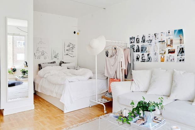 Soluci n 393  consejos para decorar un monoambiente en  L Soluci n 393  consejos para decorar un monoambiente en  L  . Revista Living Decoracion Monoambientes. Home Design Ideas
