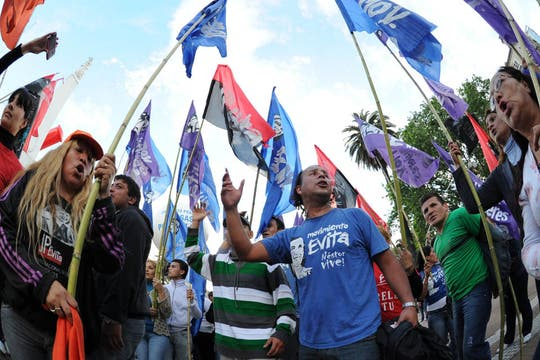Los festejos en Plaza de Mayo. Foto: AFP
