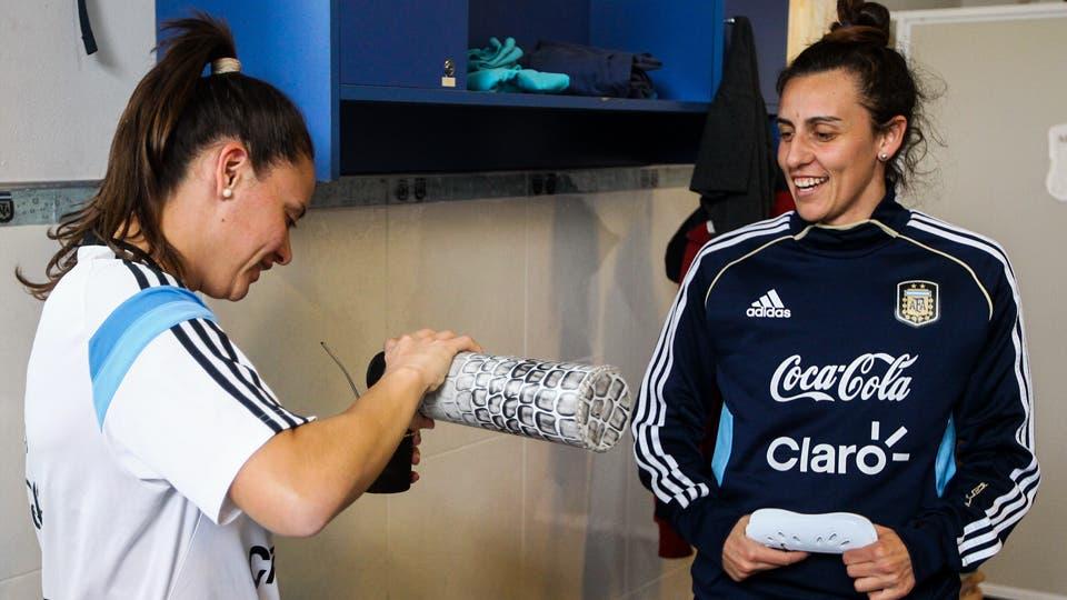 Día de entrenamiento de la Selección Argentina de Fútbol Femenino en Ezeiza. Foto: LA NACION / Mauro Alfieri