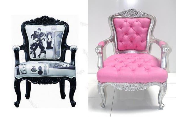 Las propuestas de Jazmeen invitan a revivir mobiliario antiguo con colores y géneros actuales..