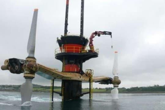 SeaGen Turbine en Irlanda del Norte.