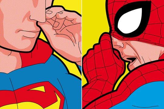 El trabajo del ilustrador Greg Guillemin. Foto: La otra cara de los superhéroes
