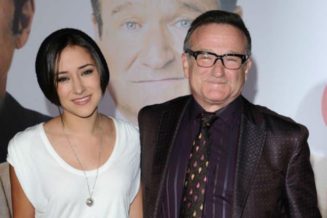 Robin Williams junto a su hija Zelda