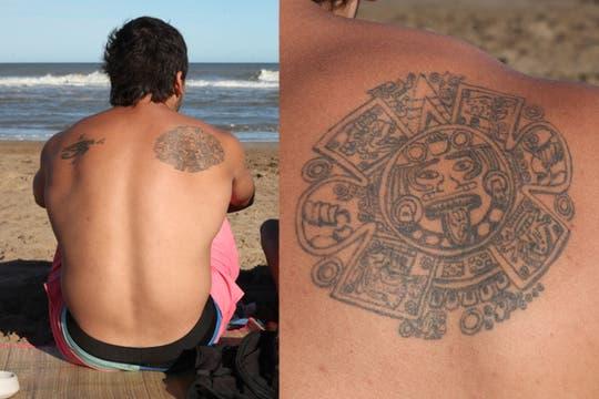 Dibujos elaborados se lucen en la playa de Pinamar. Foto: LA NACION / Matías Aimar