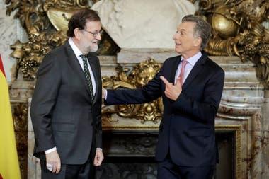 Mauricio Macri recibe en Casa de Gobierno a Mariano Rajoy