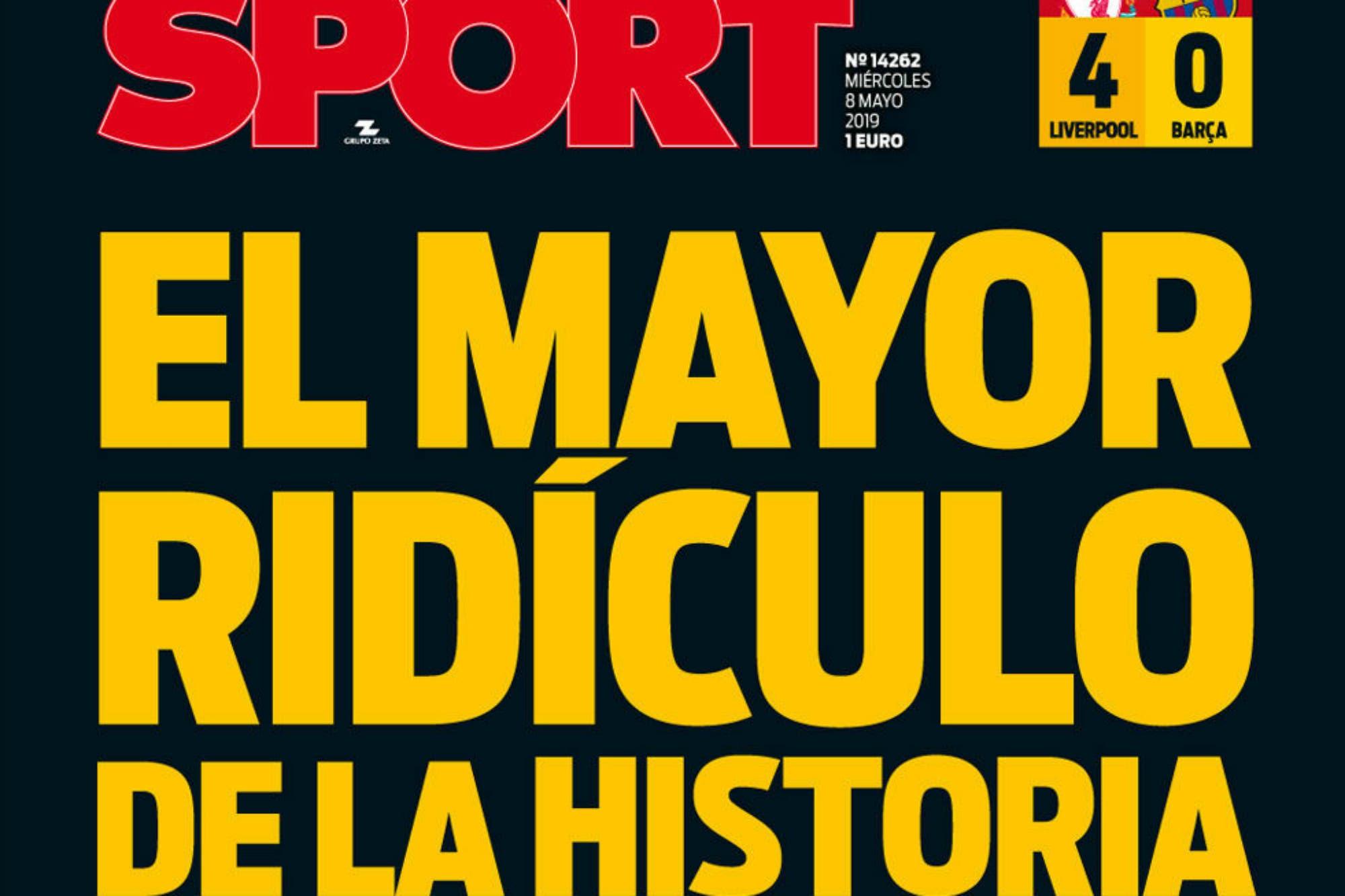 """""""El mayor ridículo de la historia"""": los diarios tras la debacle del Barcelona de Messi"""