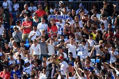 Los hinchas de Real Madrid esperan la llegada de Eden Hazard