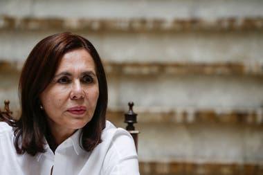 La nueva canciller de Bolivia, Karen Longaric