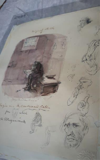 """Fagin In The Condemned Cell"", de George Cruikshank"