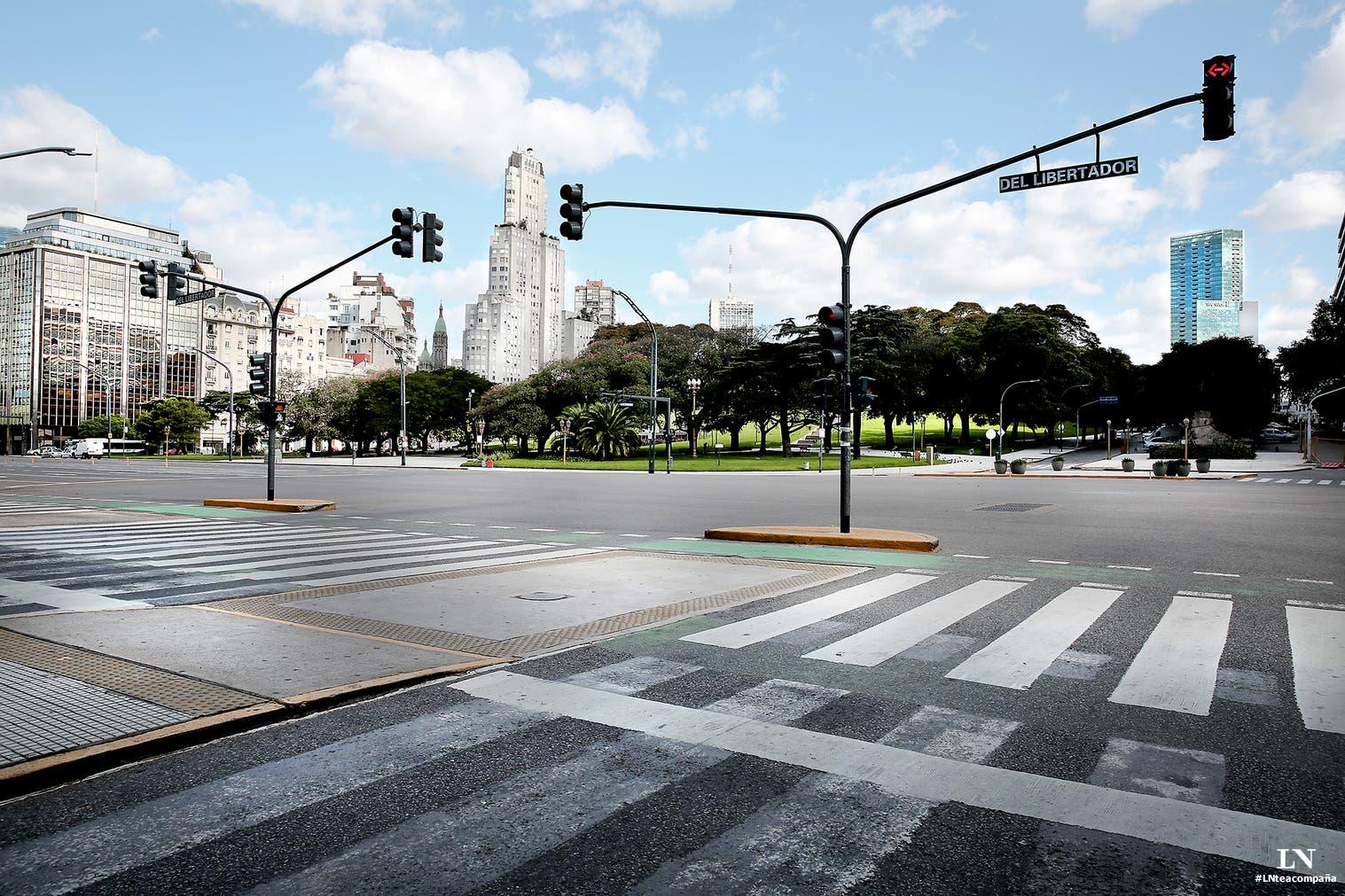 #LNteacompaña: fotos de Buenos Aires vacía para tus videollamadas en Zoom