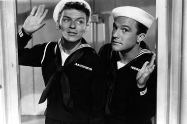 Frank Sinatra y Gene Kelly en la película de 1945 Leven anclas