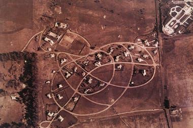Una vista aérea del Tortugas en sus primeros tiempos