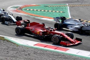 La Ferrari de Vettel duró apenas 7 vueltas en Monza