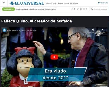 El diario El Universal, de México