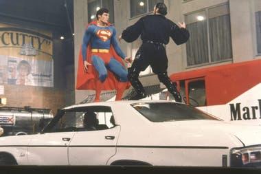 Christopher Reeve y Jack O´Halloran, en una escena de acción