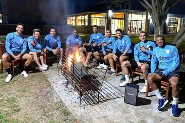 El seleccionado uruguayo, sin protecciones