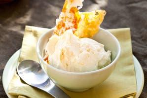 Helado de crema de coco