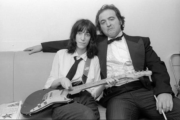 Con Patti Smith, en los días de Saturday Night Live