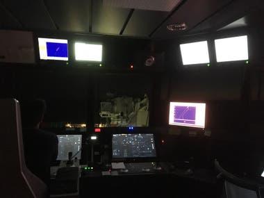 El centro de control donde se monitorean las acciones de las naves