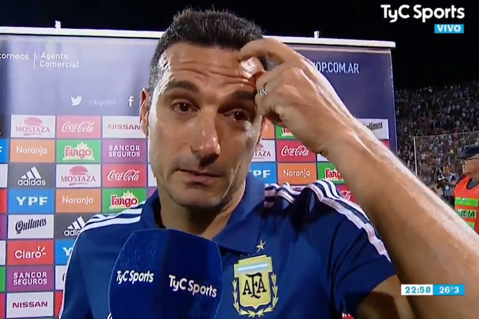 El motivo de las lágrimas de Lionel Scaloni después del triunfo de la selección ante México