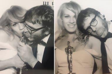 Mariana Genesio y Nicolás Giacobone, felices, el día de la entrega de los Oscar