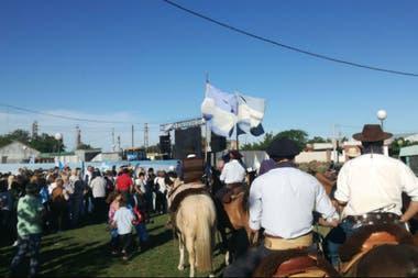 Con caballos, en Pehuajó