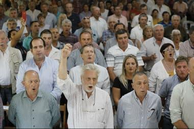 Brazo en alto. Mario Llambías, expresidente de CRA y uno de los líderes de 2008