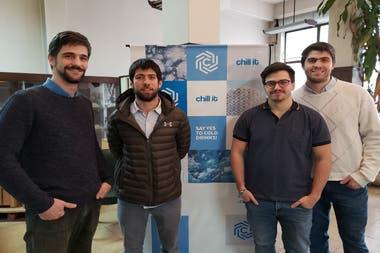 De izquierda a derecha: Luciano Cismondi, Santiago Schmidt, Nicolas Kölliker Frers y Pablo Esteban Di Lorenzo