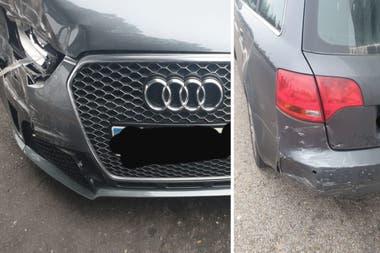 A la izquierda, el estado del auto de Zidane; a la derecha, el estado del auto del español. Crédito: La Voz de Galicia