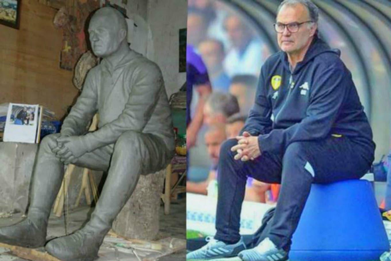 Marcelo Bielsa: un fanático de Leeds United encargó una estatua del DT y la donará al club