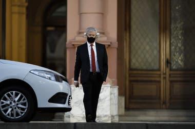 El abogado de Cristina Kirchner, Carlos Beraldi, a la salida de la Casa Rosada