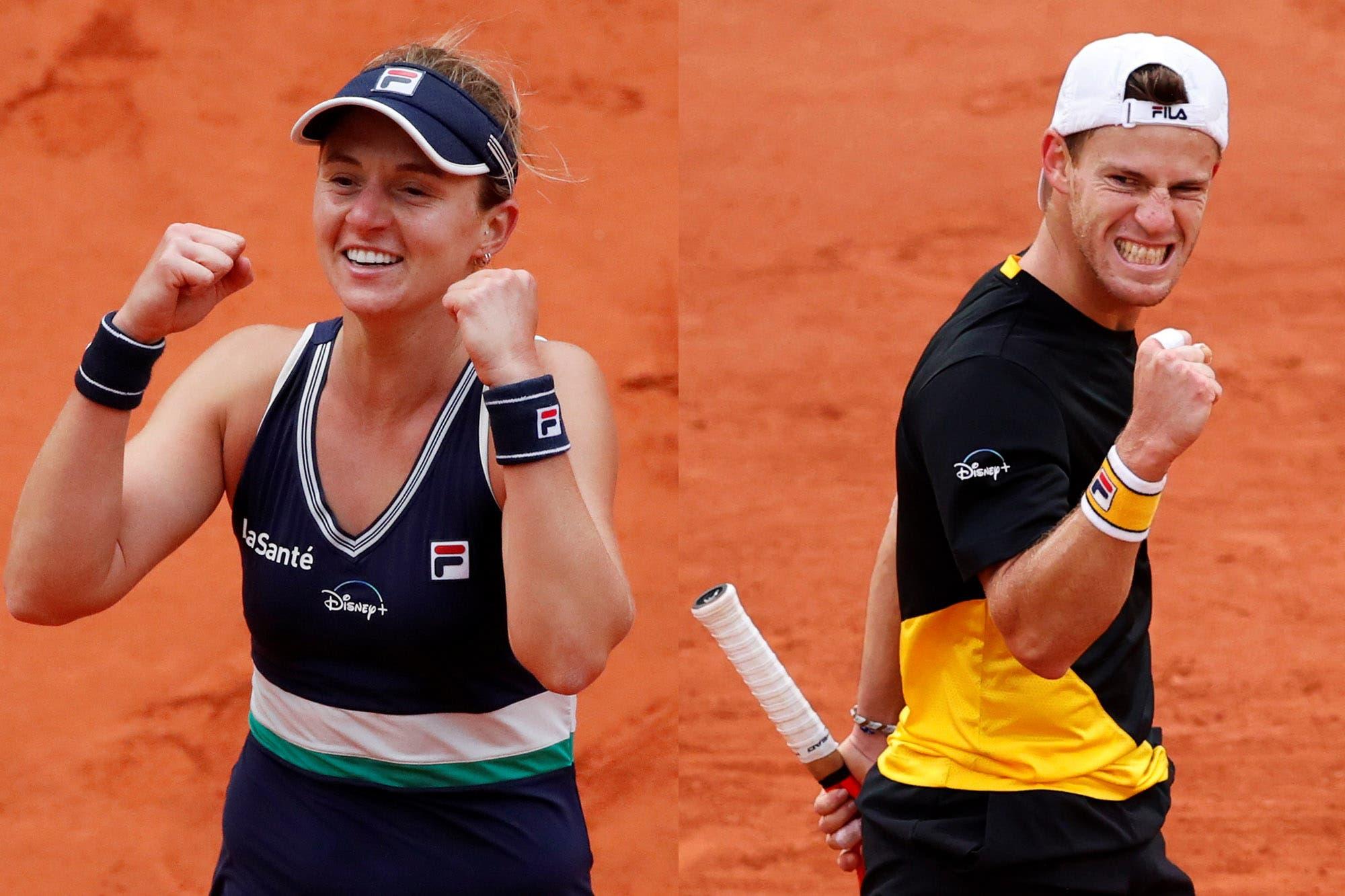 Cuándo juegan Nadia Podoroska y Diego Schwartzman las semifinales de Roland Garros