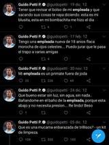 Los mensajes de Guido Petti en relación a una empleada doméstica