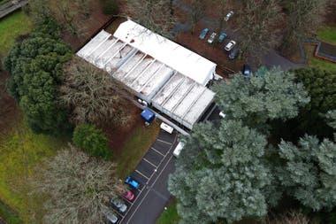 Morgues provisionales en Epsom, Reino Unido