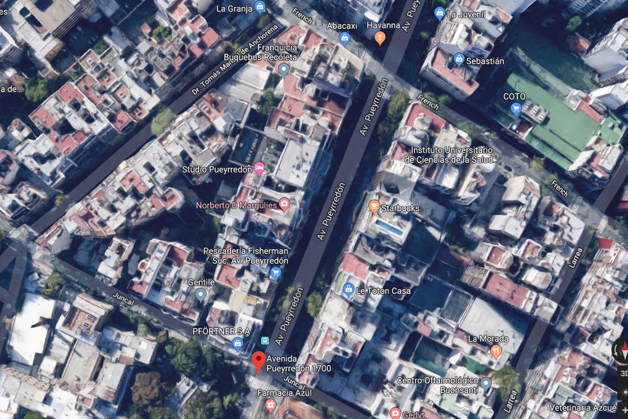 Recoleta: una mujer intentó robar un departamento y cayó al vacío desde un octavo piso