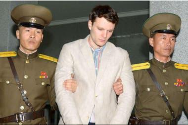 Otto Frederick Warmbier, el estudiante norteamericano que estuvo detenido en Corea del Norte, en 2016