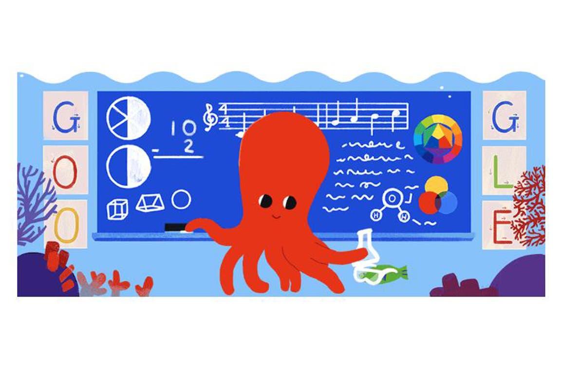 El doodle del gran buscador para rendir homenaje a los docentes en su día