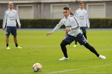 Lautaro Martínez, el indiscutido 9 de la selección, será titular ante Alemania, este miércoles.