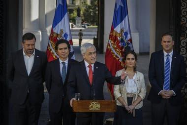 El presidente de Chile, Sebastián Piñera, anunció un proyecto para aumentar el salario mínimo