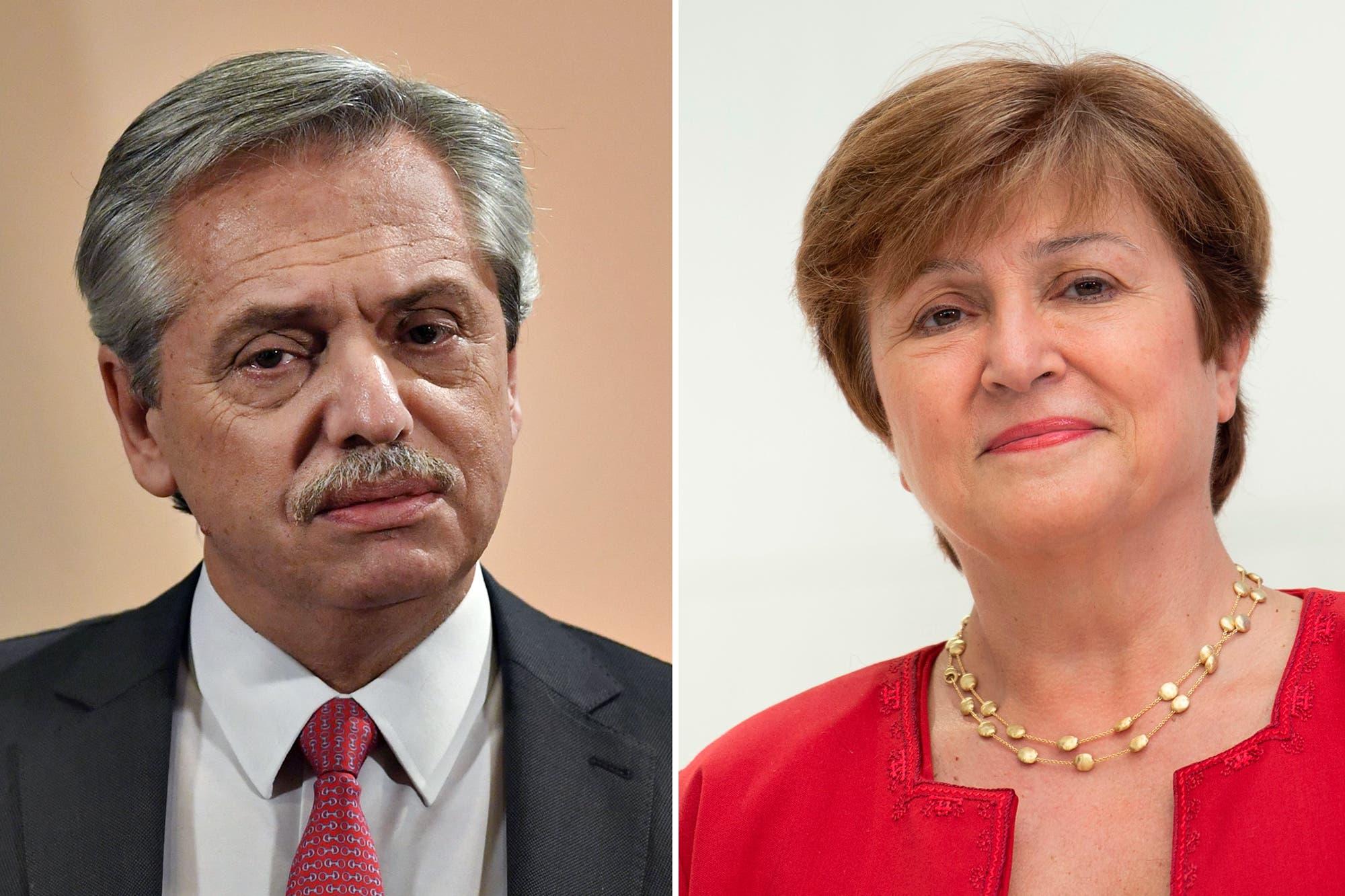 Alberto Fernández habló por teléfono con la directora del FMI, Kristalina Georgieva