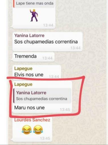 """""""Maru nos une"""", la frase de la polémica"""