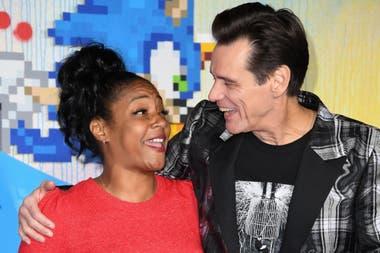 Tiffany Haddish, a pura risa con Jim Carrey en la avant premiere del fim Sonic que ya está disponible en nuestras salas