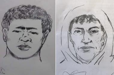 Los identikits de los asesinos del niño de 4 años.